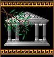 Fantasy hellenic temple vector