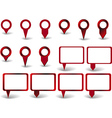 Set of red pointers on white background with vector