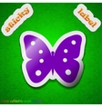 Butterfly icon sign symbol chic colored sticky vector