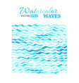 Watercolor waves background vector