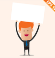 Cartoon business man with white board - - ep vector
