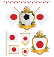 Japan flags vector