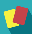 Red and yellow card icon vector