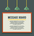 Blank message board on the wall vector