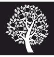 Family genealogical tree on black background vector