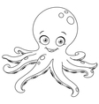 Outlined octopus vector