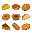 Baking icon set vector