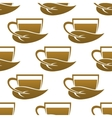 Seamless pattern of tea cups vector