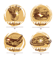 Banners of fast food sketch design vector