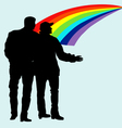 Silhouettes of homosexuals vector