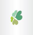 Four leafs clover luck symbol vector