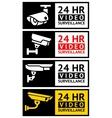 Video surveillance stickers set vector