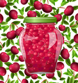 Seamless texture with preserve cherry vector