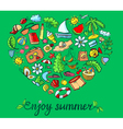 Summer heart vector