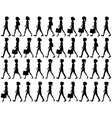 Silhouette of people walking vector