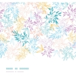 Colorful pastel branches horizontal seamless vector