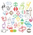 Color arrows collection vector