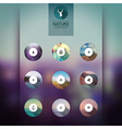 Web and mobile interface template icons blurred vector