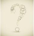 Question mark vector