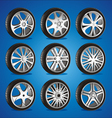 Automotive wheel with alloy wheels and low profile vector