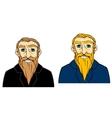 Senior man with beard vector