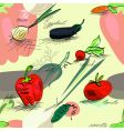 Wallpaper with vegetables vector