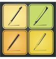 Icons pencils vector