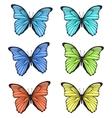 Decorative colorful hand drawn butterflies set vector