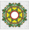 Round ornamental frame circle floral background vector