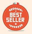 Best seller circle retro medal vector