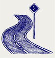 Curve road vector