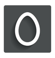 Easter egg sign icon easter tradition symbol vector