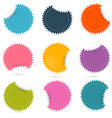 Colorful paper empty stickers - labels set vector