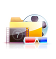 Digital video folder vector