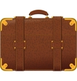 Brown suitcase vector