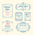 Label vintage design labels vector