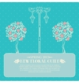 Roses with street light vector