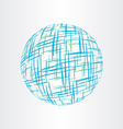 Abstract globe earth technology icon vector