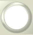 Frame porthole on white background vector