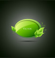 Speech bubble green leaf vector