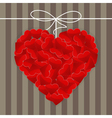 Big heart made of many small red hearts vector