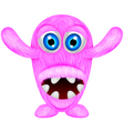 Scary pink monster vector