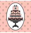Cake invitation vector