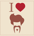 I love vintage hipster mustache and hair style vector