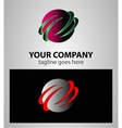 Business abstract template design global vector