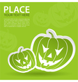Pumpkin halloween sticker vector
