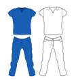 Jeans and t-shirt vector