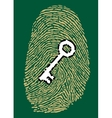 Fingerprint and security key vector