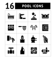 Set icons of pool vector