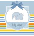 New baby boy announcement card vector